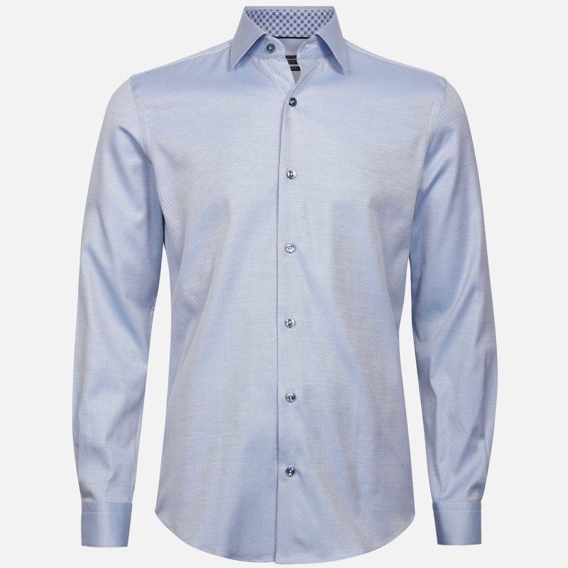 Premium skjorte med mønster   7239743   Lys blå   Dressmann